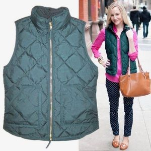 Hunter Green J Crew Excursion Quilted Vest